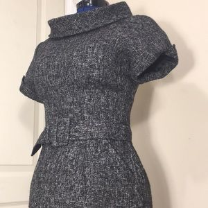 Banana Republic tweed dress fitted w/ belt Size 6